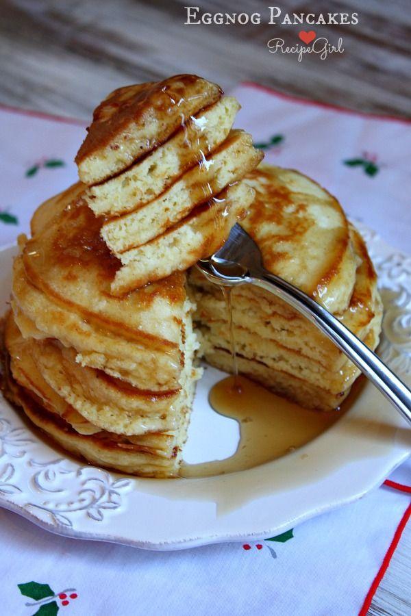 Eggnog Pancakes from RecipeGirl.com @RecipeGirl {recipegirl.com}