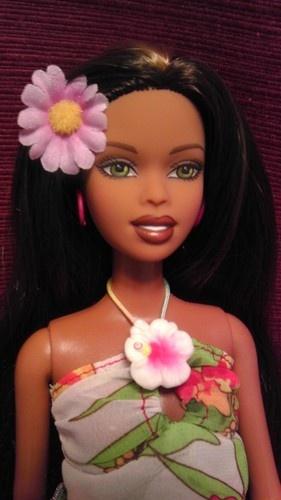 Hawaiian Hair Cali Girl Barbie Christie Fashion Doll 4