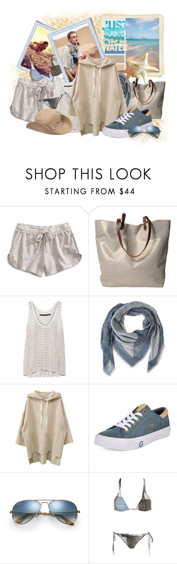 """To live and feel !"" by tasha1973 ❤ liked on Polyvore featuring Lucky Brand, Seed Design, Independent Reign, Enza Costa, Calvin Klein, G by Guess, Ray-Ban and Norma Kamali"