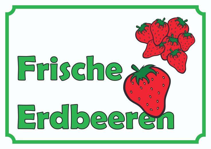 hofschild frische erdbeeren f r ihren verkauf landwerbe hofschilder pinterest erdbeeren. Black Bedroom Furniture Sets. Home Design Ideas