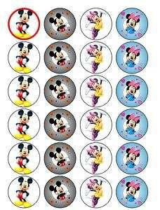 24 Minnie and Mickey mouse cupcake fairy cake toppers