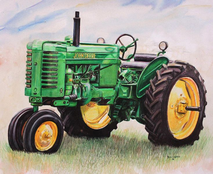 12 best images about drawings on pinterest john deere a for Tractor art projects