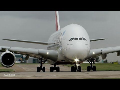 9 Very Close Takeoffs & Landings: A380, 777, 787, A330, 757, 767, A319 Manchester Airport - YouTube