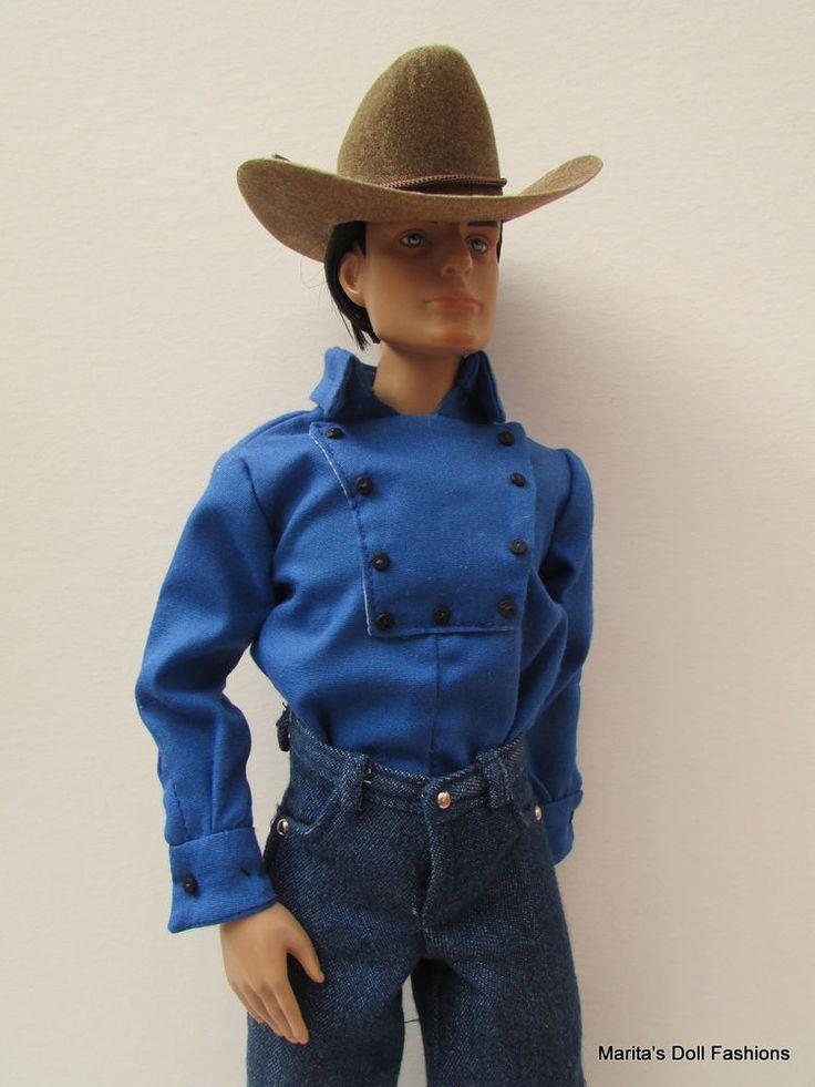 Blue Cowboy Shirt Bib Shirt John Wayne 4 Matt O Neill