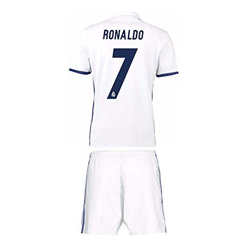 Cheap 7 Ronaldo Real Madrid Home Men Uniform Set 2016-2017(Jersey and Short Included) Father day sale