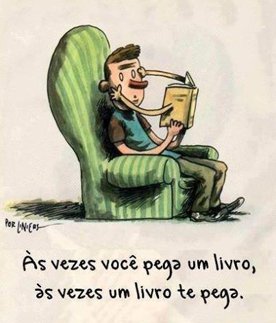 Como é bom ser pega por um livro!
