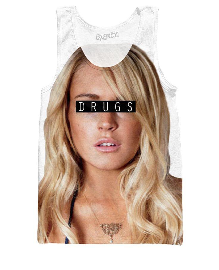 Lindsay Lohan Drugs Tank Top