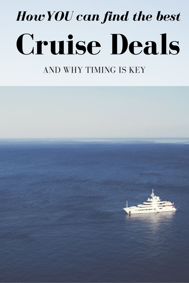 Want to know how to find the best cruise deals?! It's really easy...