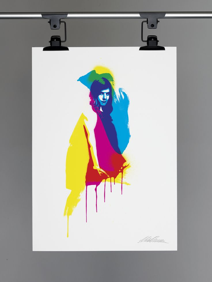 CMYK Girl Ltd Ed Print by Miles Donovan of Peepsho | Design Supremo | Wbviv\'s Weblog