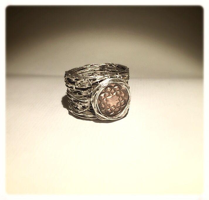 Soka Gakkai. #anello #ring #silverclay #copperclay #argento #handmade
