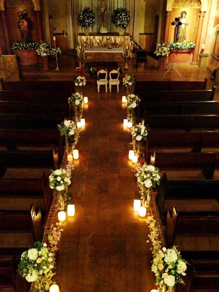 candlelit wedding ceremony decor
