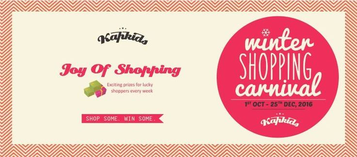 Shop Some, Win Some!! Kapkids Winter Shopping Carnival is back.  Shopping at #Kapkids can not only get you some amazing fashion but also a chance to win a amazing prizes by Airtel Money, Sterling Holidays, Avon Cycles, Suzuki and loads more.  Kapkids Winter Shopping Carnival has a spree of prizes waiting for you. Just shop and stand a chance to win a special prize every week and lot more. #Kapkids #WinterShoppingCarnival #ShopSomeWinSome