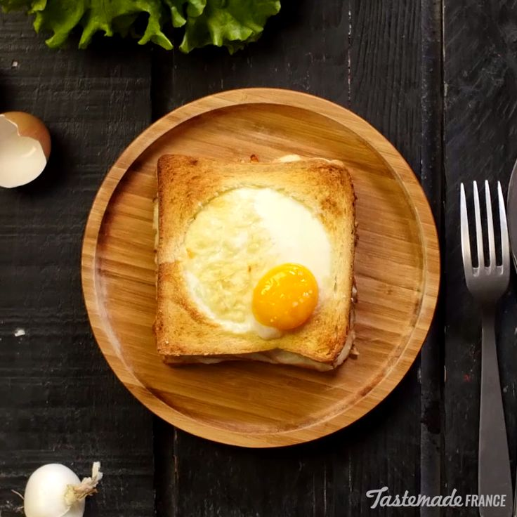 Make your brunch egg-ceptional with this cheesy chicken sandwich topped with a baked egg.