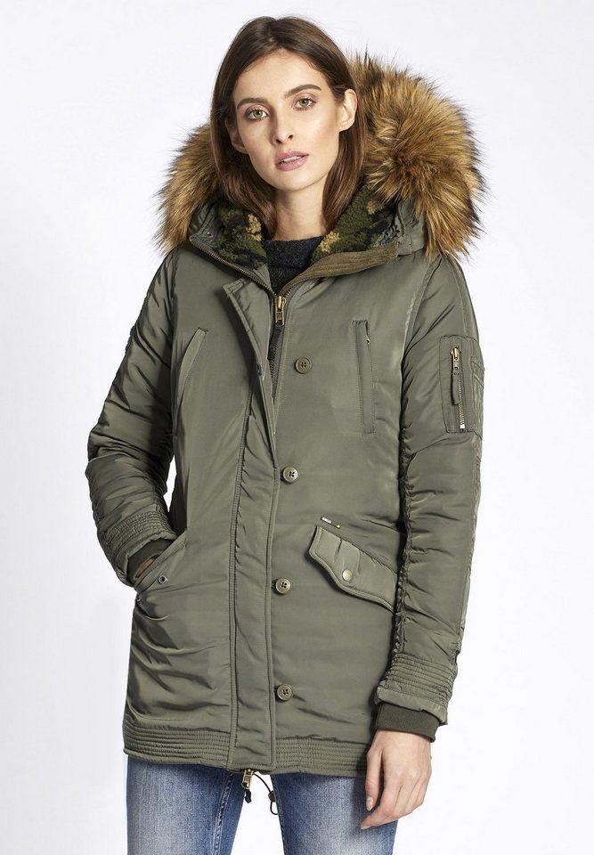 new style c58b7 4a93a khujo Parka »CORALIE« (1-tlg) mit Kapuze | coats and jackets ...