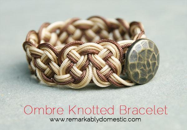 DIY Jewelry: DIY Ombre Knotted Bracelet