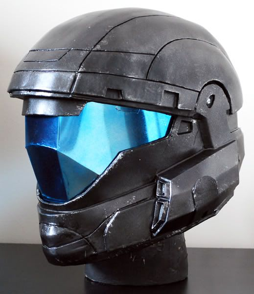 Tinting and curing visor ODST. awesome idea, if you want to go the easy way of making a visor