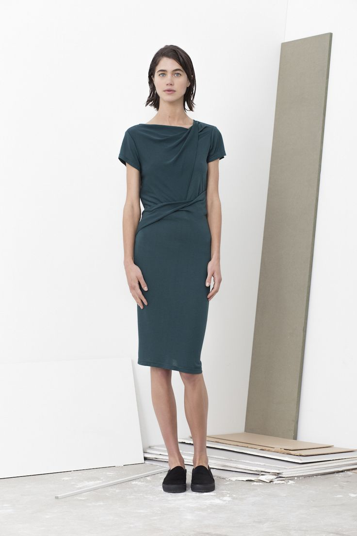 Gena all in one front twist neck dress