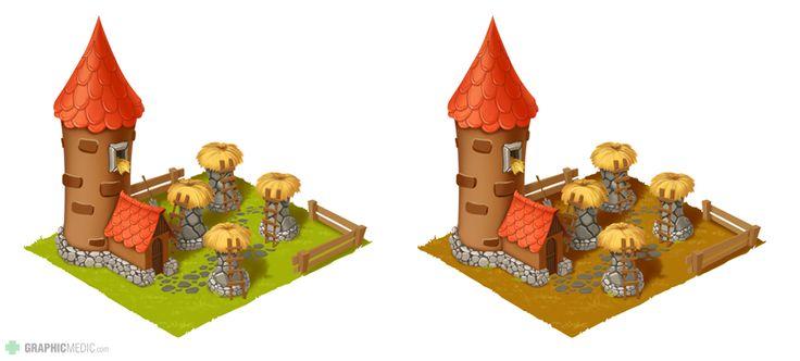 Farm hatchery illustration