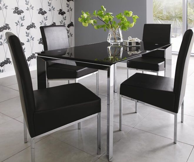 Image Result For Black Glass Dining Table Part 21