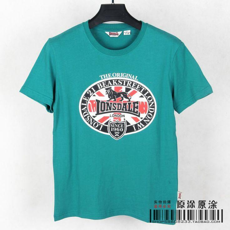 Новая Англия Лев Лонсдейл лев флаг шаблон хлопка шею с коротким рукавом футболки мужские весной и летом - Taobao