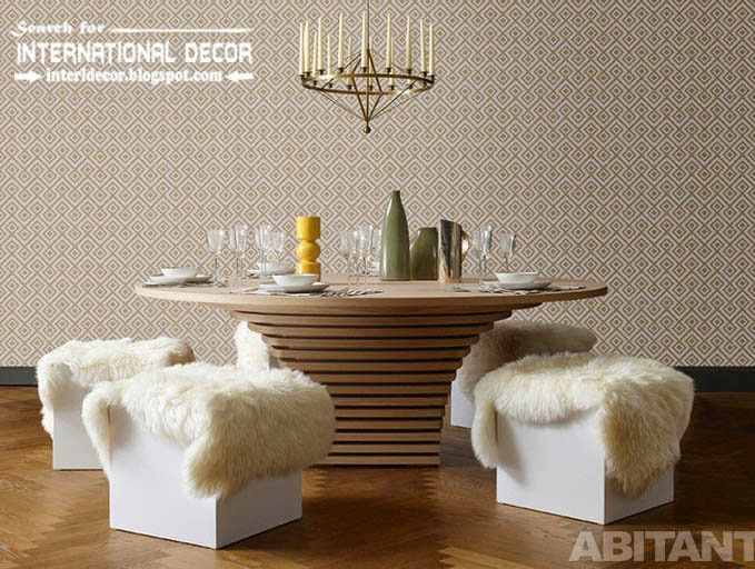 Contemporary dining room sets ideas and furniture 2015, stylish round table and seats