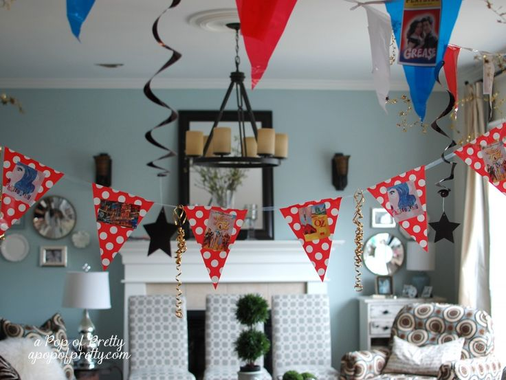 A Pop of Pretty: Canadian Decorating Blog - http://apopofpretty.com/broadway-party-theme-ideas/