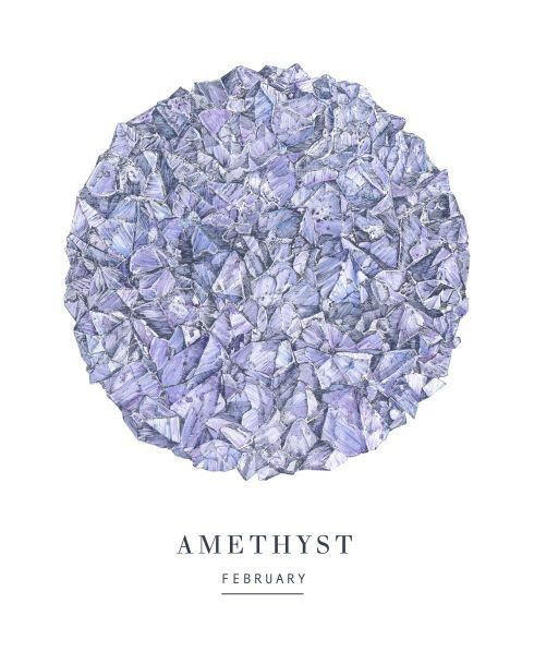 AMETHYST February birthstone circle. More to come!