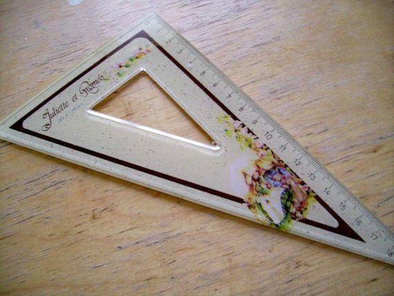 Romeo and Juliet Geometry Ruler Set 70s Rulers for by JirjiMirji, €20.90