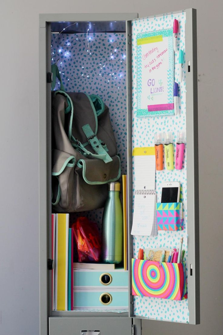 22 DIY Locker Decorating Ideas | Easy Crafts and Homemade Decorating & Gift Ideas | HGTV >> http://www.hgtv.com/design/make-and-celebrate/handmade/diy-locker-decorating-ideas-pictures?soc=pinterest