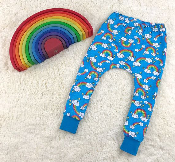 Rainbow Baby Harem Pants Rainbow Harem by YouAreMySunshineLtd
