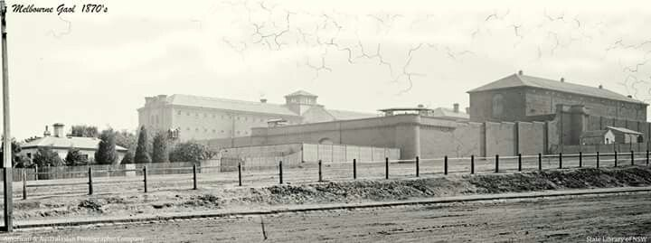 Melbourne Gaol in the 1870s.