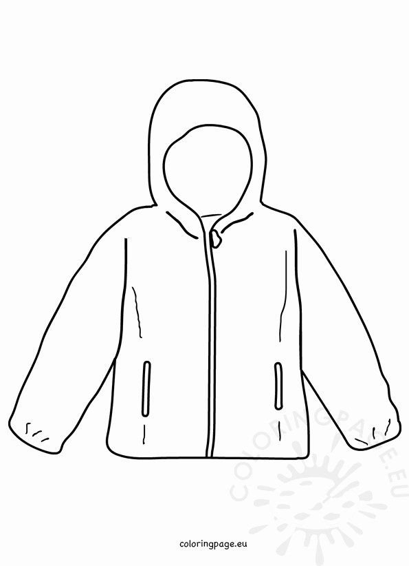 Winter Coat Coloring Page Lovely Coat Winter Jacket Template