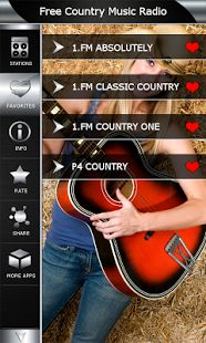 Download free here https://play.google.com/store/apps/details?id=com.popularradiostations.freecountrymusic and listen live the best Country music radio stations. We collected all the most popular online radio stations who play Country music in one place. Thanks to live streams you can listen coolest radio channels on your Android in any time and every where. FM radio tuner is the best way to listen to the radio live on your device.