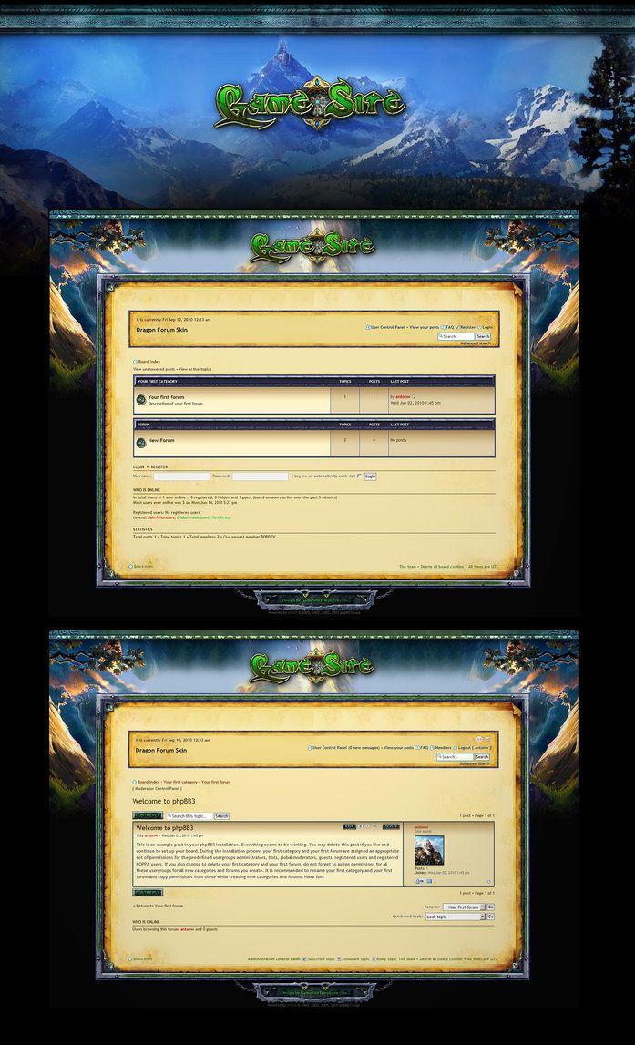 MMOG phpBB Forum Skin by ~karsten on deviantART