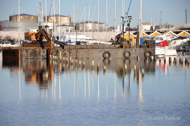 Højvandet i Lystbådehavnen - januar 2012