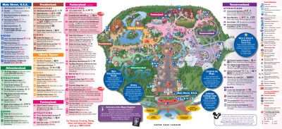 All New 2013 Walt Disney World Park Maps