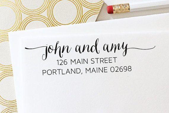 Address Stamp  Self Inking Address Stamp  by TheYellowNote on Etsy, $30.00