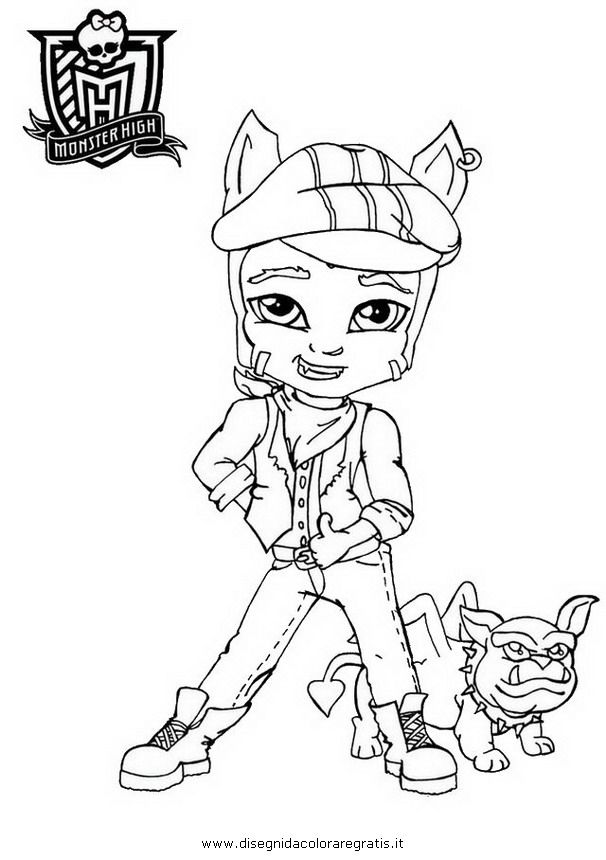 simple monster high clawd coloring pages clawd wolf baby colouring pages with peter and the wolf