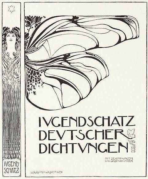 Book cover by Kolo Moser, Feb. 1898, Ver sacrum.