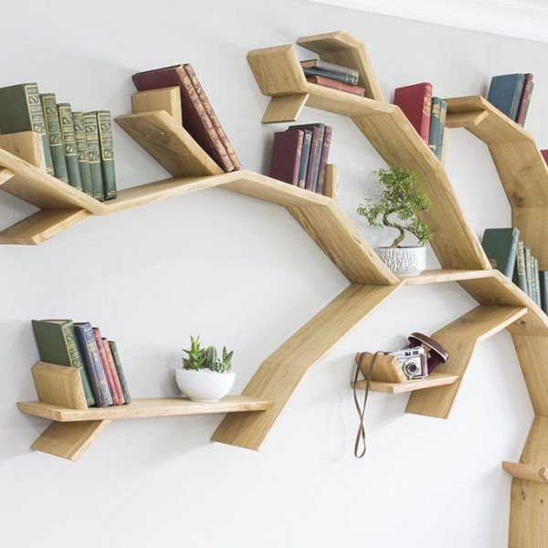Oak Tree Bookshelf Windswept Bookcase By Bespoak Interiors