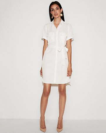 8c840ffb29f You re office-ready in this chic shirt dress thanks to a crisp design