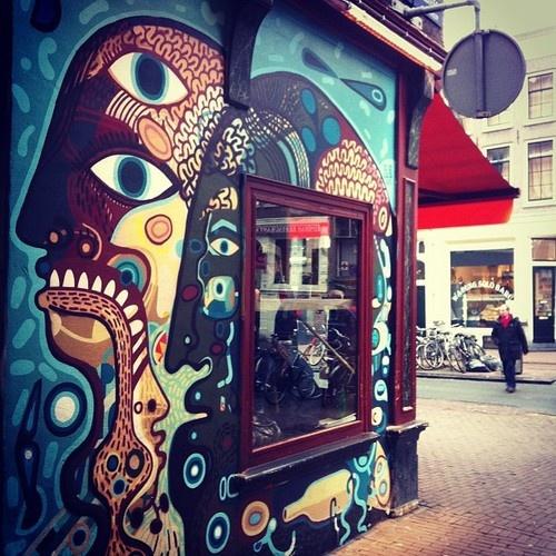 Abraxas coffee shop. #amsterdam (Artist : David Shillinglaw)