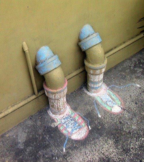 les jambes tuyaux