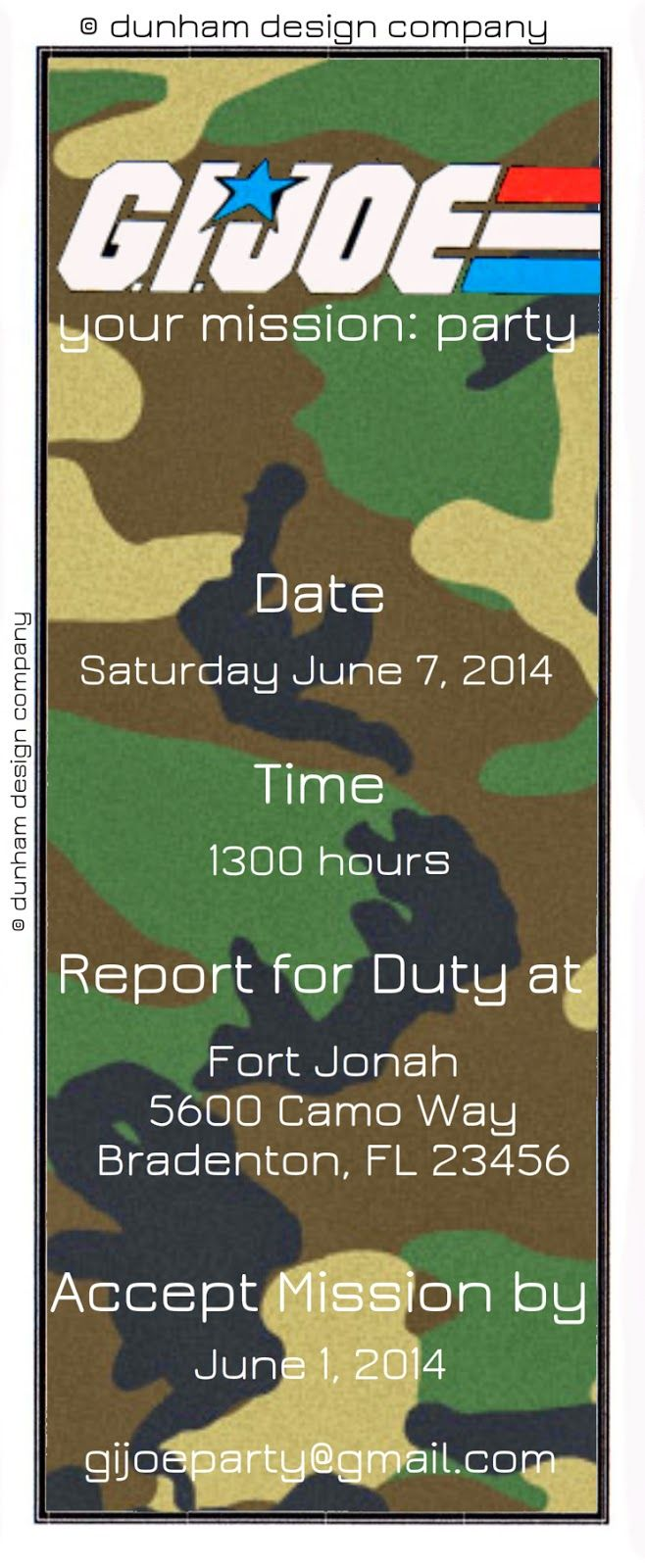 free printable camouflage birthday party invitations%0A Mommy u    s Idea Notebook  New Party Collection  GI Joe Toy Soldier Party  Printable  Camo Birthday