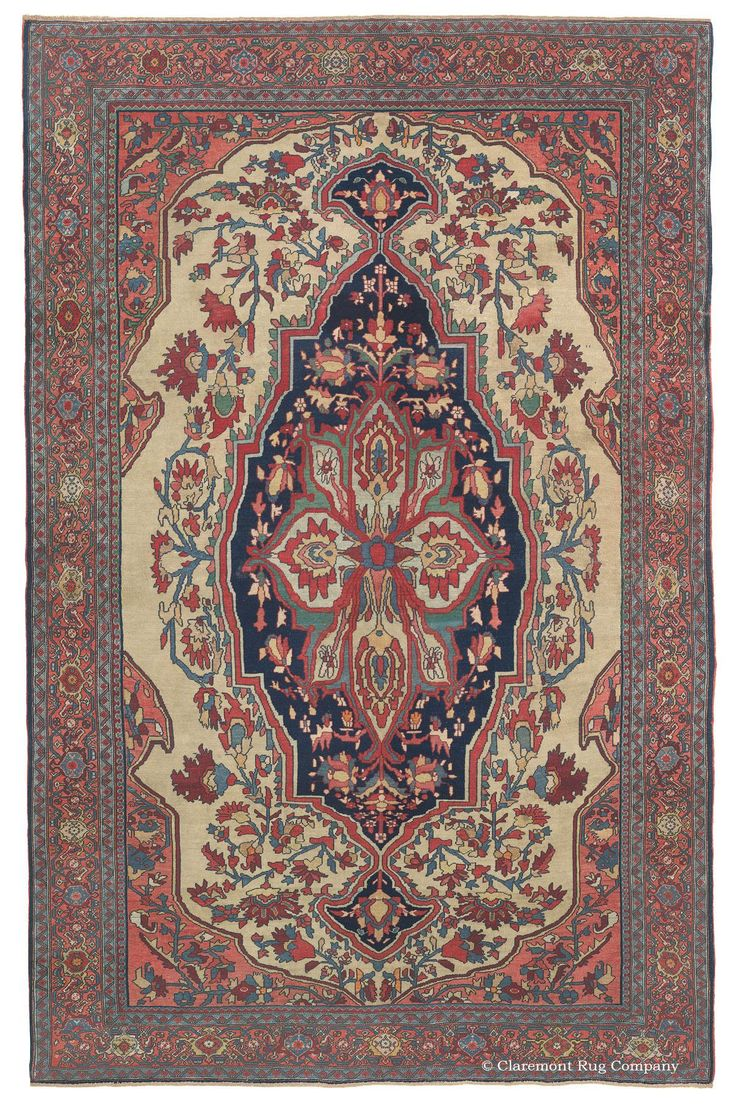 FERAHAN SAROUK   West Central Persian 4ft 5in X 6ft 7in 3rd Quarter, 19th  Century