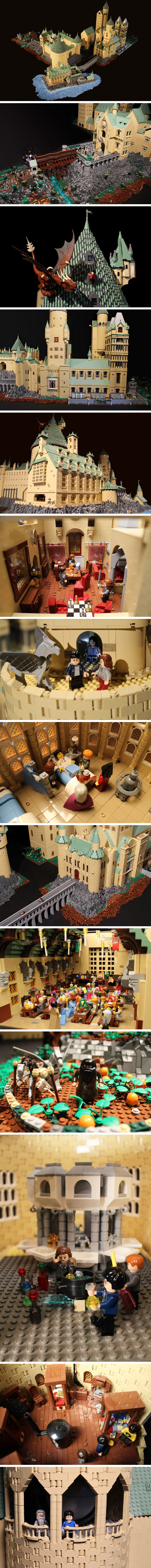 Hogwarts in Legos by Alice Finch. Someone has waayyy too much time on their hands (and I love them for it!)