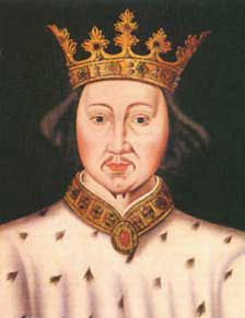Richard II 1377-1399  A very turbulent and controversial reign. First the peasants rebelled against him then his nobels. He was eventually overthown, with his cousin Henry becoming King.  Richard was later imprisioned in Pontefract Castle. Legend has it that he starved himself to death, more likely he was murdered.