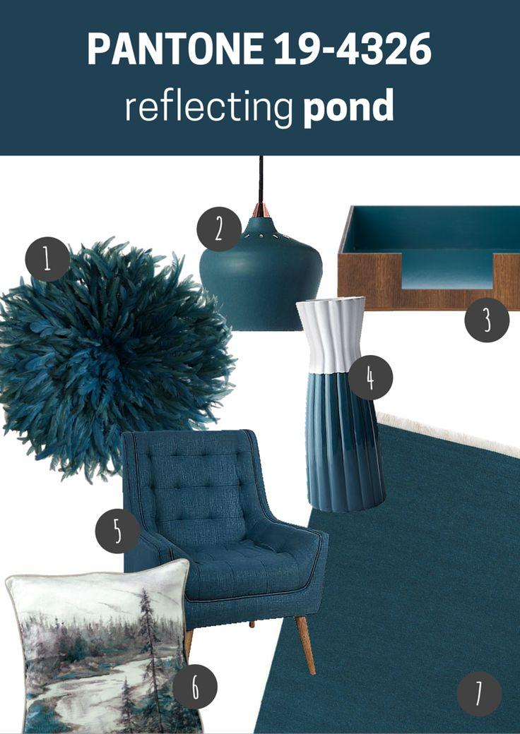 pantone 19-4326 reflecting pond   pokój dzienny // living room