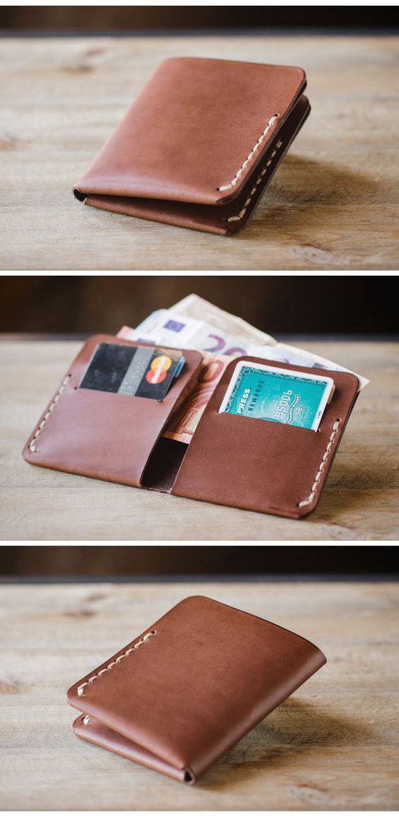 Stylish Slim Leather Wallets for Mens with Credit Card and Money Slot