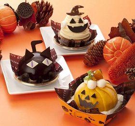 上から、おばケーキ、ハロウィン黒猫、ハロウィンドーム。 シャトレーゼ(山梨県甲府市)は、期間限定でハロウィン向けの特別なお菓子を2012年9月28日から全国の店舗で販売する。